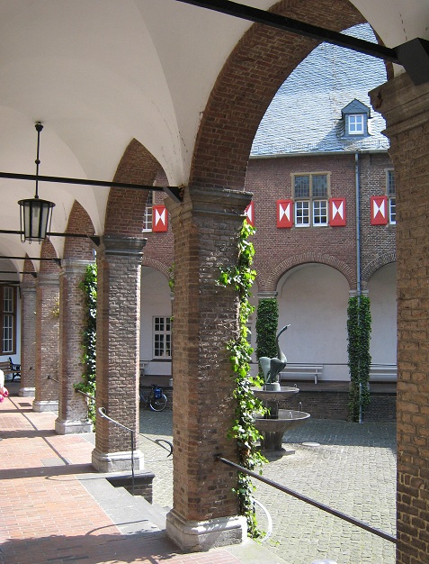 Inner courtyard of the Schwanenburg or Swan Castle in Kleve (Cleves)