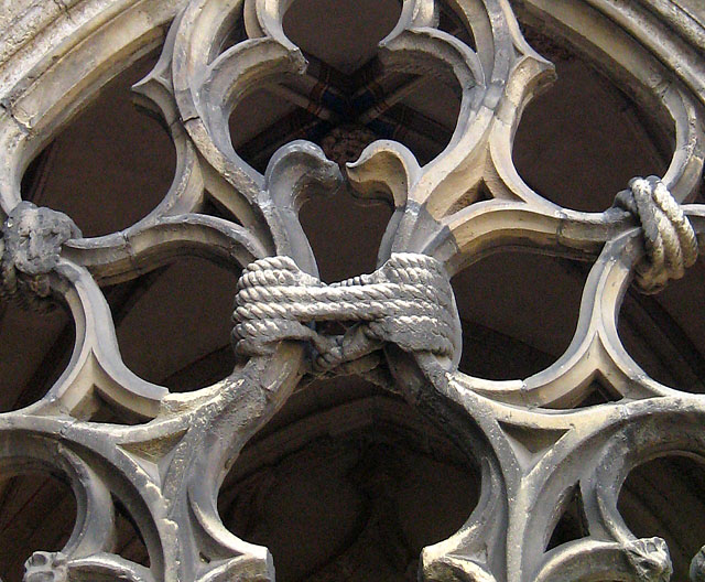 Cloister with knot of stone, Dom Utrecht