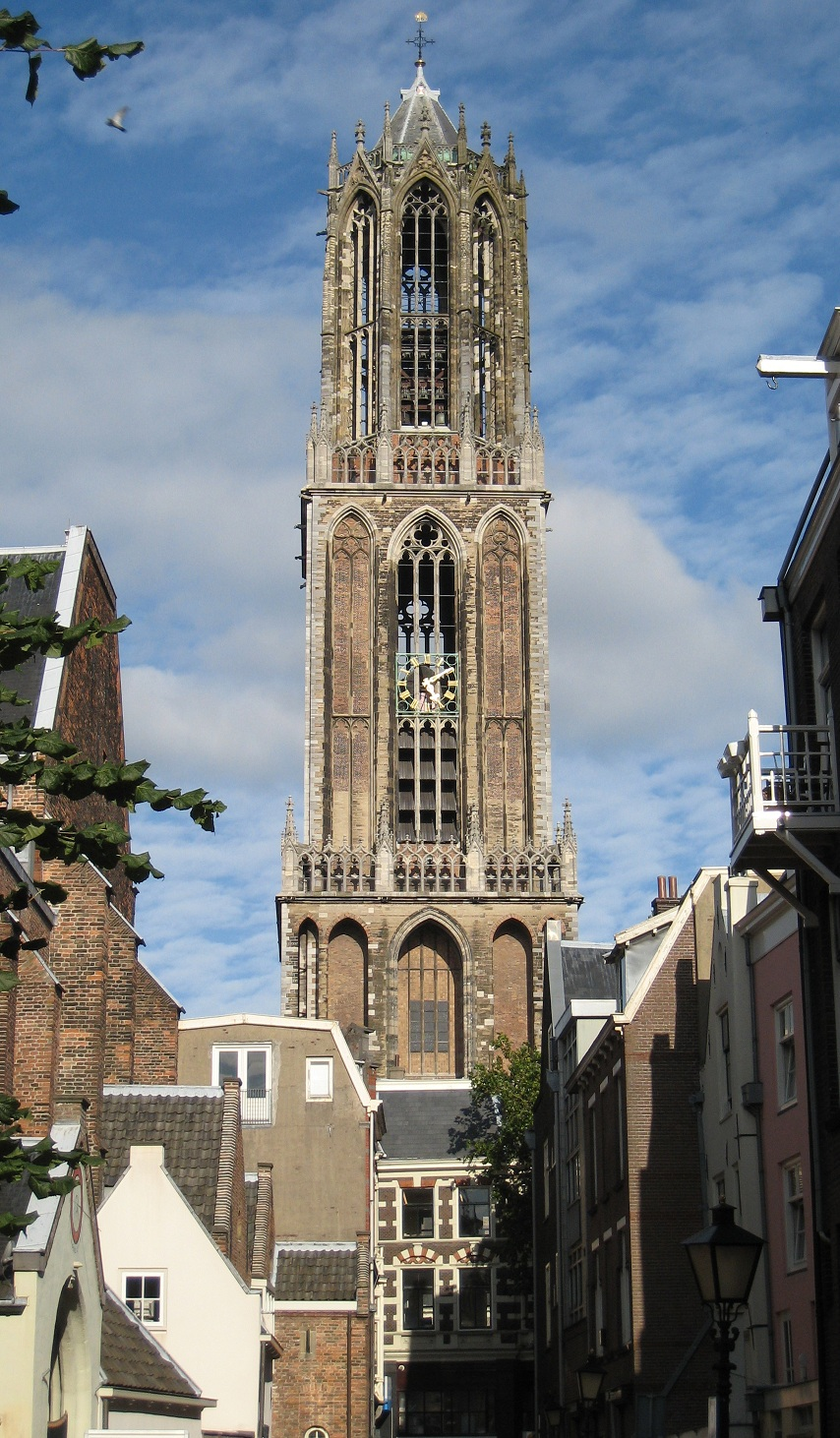 Utrecht cathedral tower (Domtoren), a main sight of the city and landmark of Utrecht