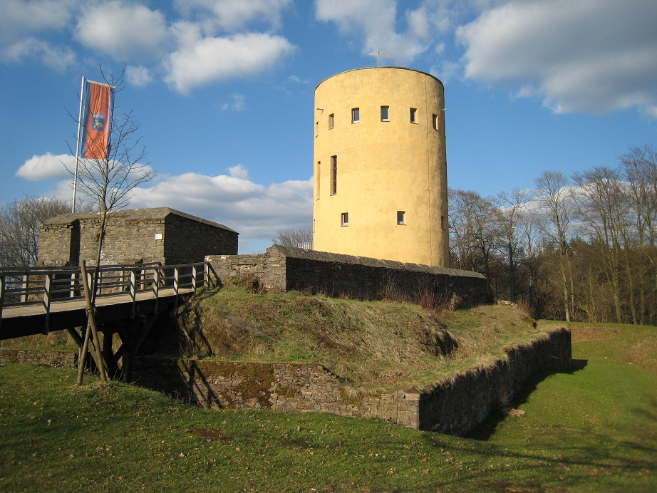 The ruins of Ginsburg castle in the Siegerland.