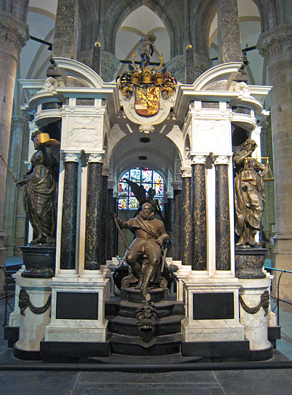 Funeral monument of William of Orange in the Nieuwe Kerk (New Church) in Delft