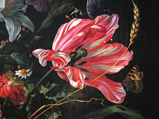 Jan Davids. de Heem, Mauritshuis, detail of a still life
