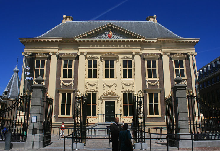 Mauritshuis Facade at the side of the (new) main entrance