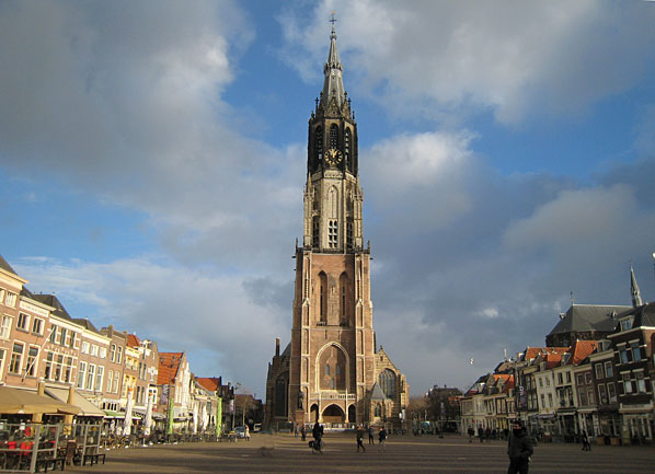 The New Church (Nieuwe Kerk) on the Market Square in Delft
