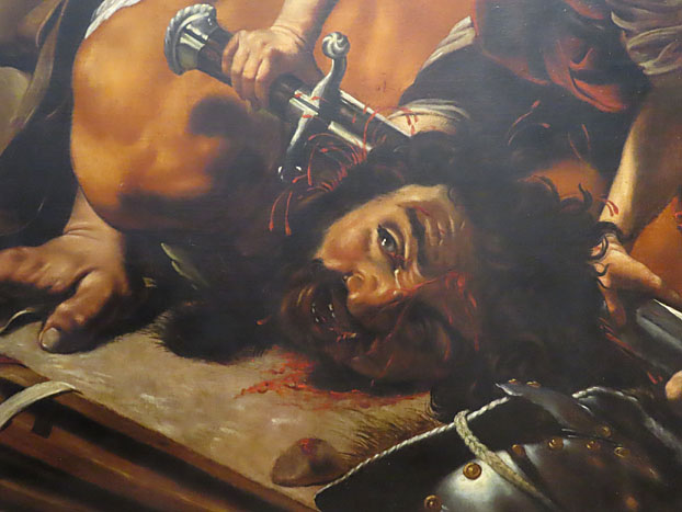 Orazio Borgianni, David en Goliath, detail