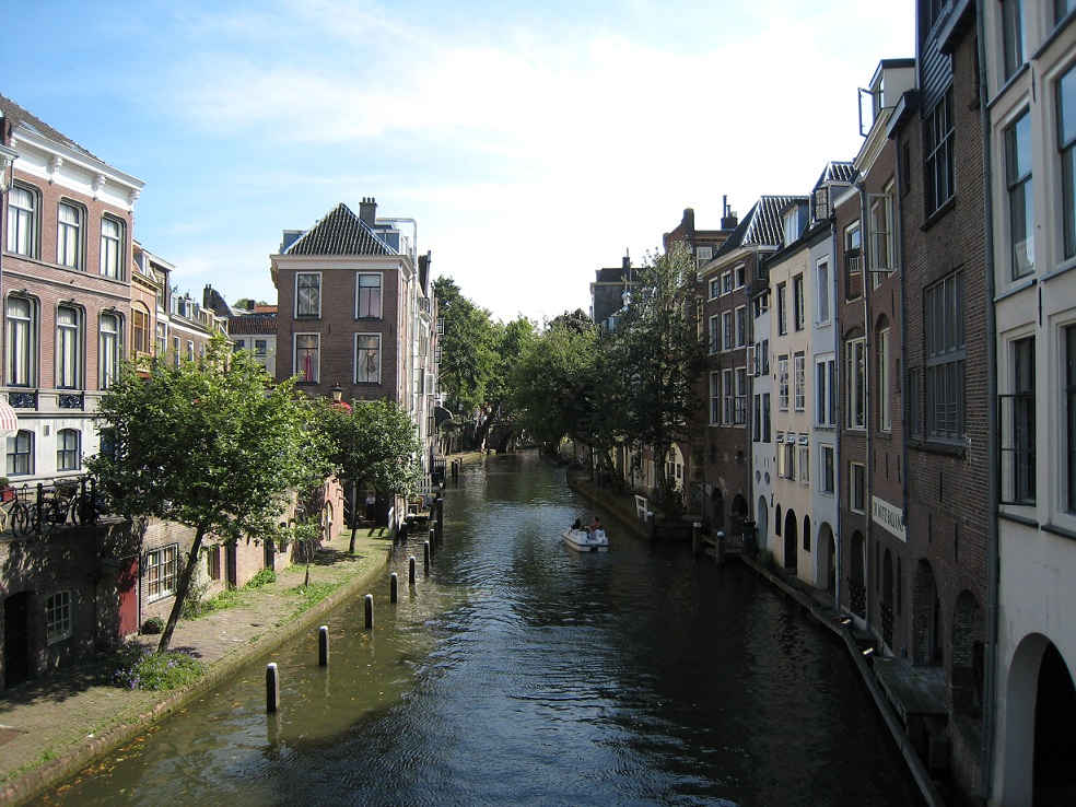 The 'Oudegracht', the old canal in the centre of Utrecht