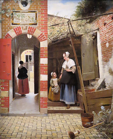 Pieter de Hooch, Innenhof in Delft, National Gallery London