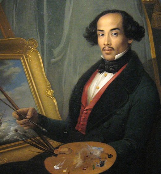 Raden Syarif Bustaman Saleh, painter from Java, portrait by Friedrich Carl Albert Schreuel