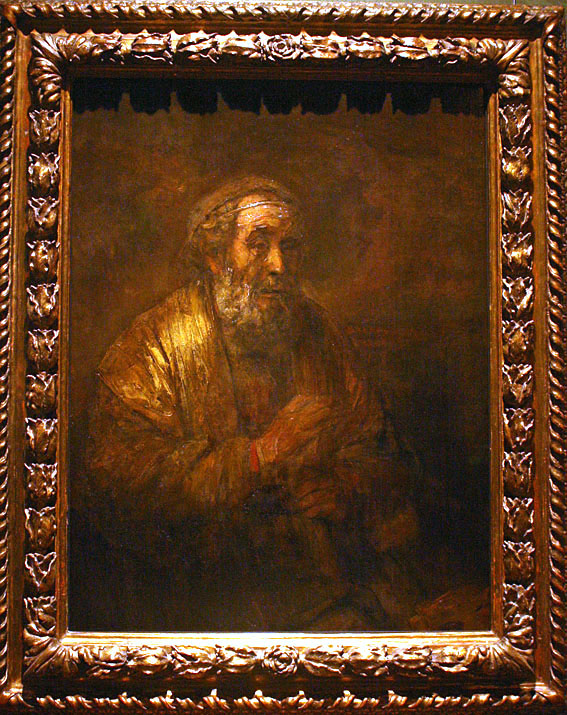 Rembrandt, Homer, 1663, Mauritshuis The Hague