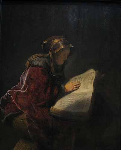 Rembrandt, Old woman reading, Rijksmuseum  Amsterdam