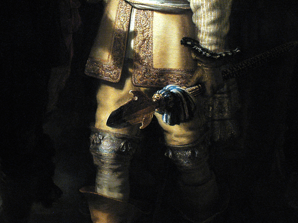 Rembrandt van Rijn, Nightwatch, detail