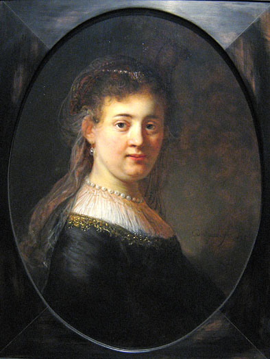 Rembrandt, bust of a young woman (Saskia?), Rijksmuseum
