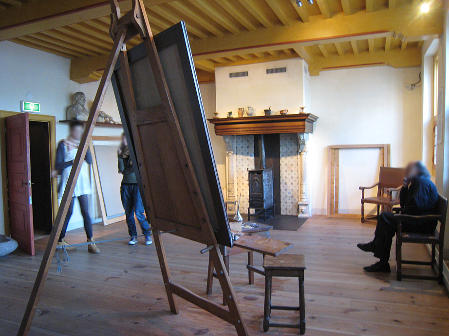 Rembrandt's studio in the Rembrandt house in Amsterdam