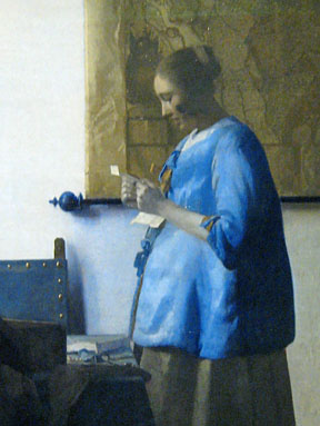 Johannes Vermeer, Reading woman in blue, Rijksmuseum