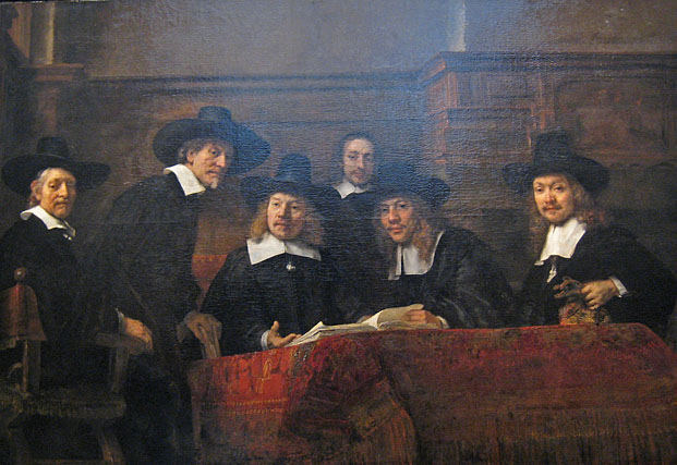 Syndics of the Drapers' Guild Rembrandt Rijksmuseum