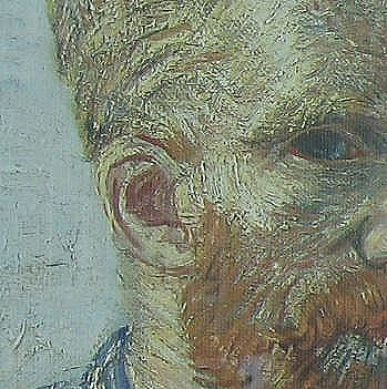 Van Gogh ear on self portrait
