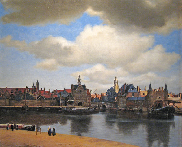 Johannes Vermeer, View of Delft in the Mauritshuis, Tha Hague