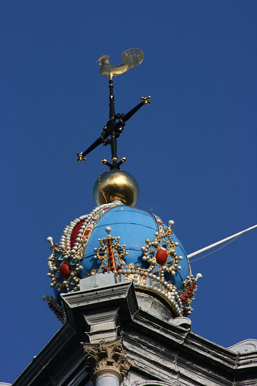 Westerkerk Amsterdam, crown on church tower