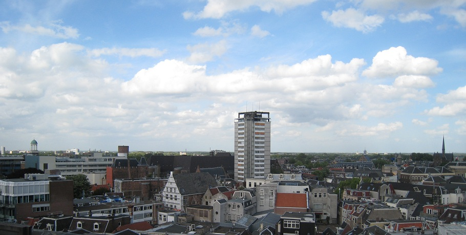 View over Utrecht from Hoog Catharijne to the Northeast.