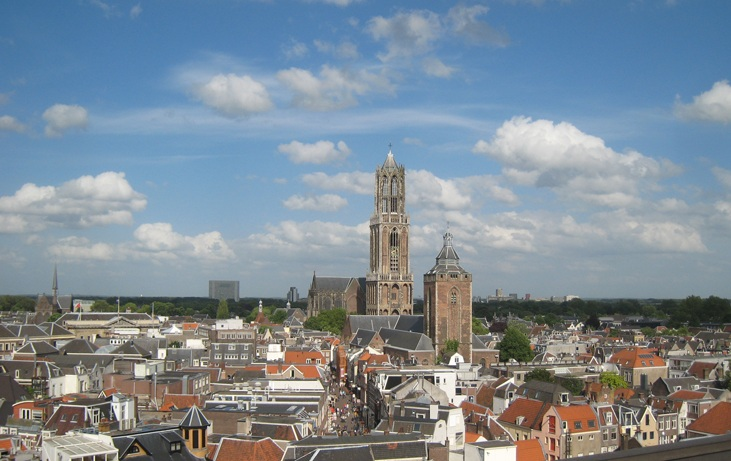 Utrecht panorama, view of the city centre.
