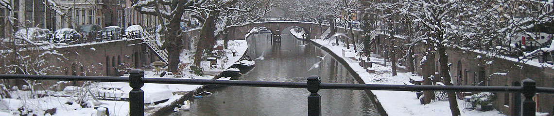 Oudegracht (old canal) Utrecht in winter